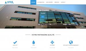 """Creation de site web oran algerie - Centre des Analyses """"Afak Control"""""""