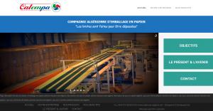 """Creation de site web oran algerie - Producteur d'Emballage en Papier """"Calempa"""""""