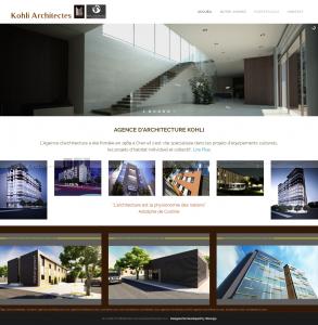 "Creation de site web oran algerie - Architectes ""Kohli"""
