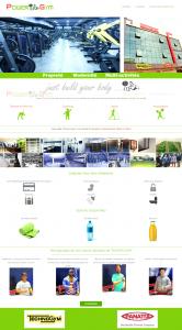 """Creation de site web oran algerie - Salle de Sports """"Power Gym"""""""