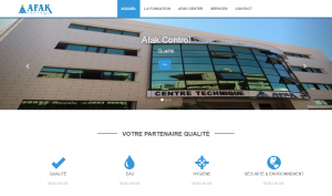 "Creation de site web oran algerie - Centre des Analyses ""Afak Control"""
