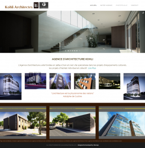 "Creation de site web oran algerie - Architectes ""Kohli"""