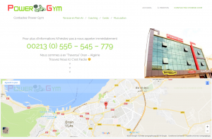 "Creation de site web oran algerie - Salle de Sports ""Power Gym"""